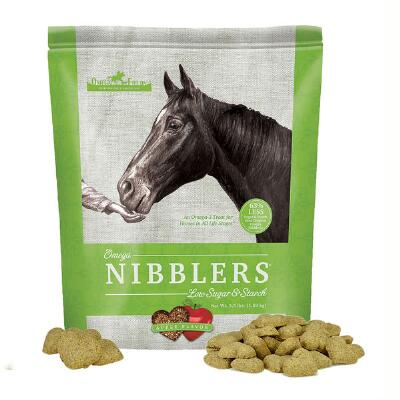 Omega Nibblers Low Starch and Sugar Treats Apple Flavored 3.5 lb