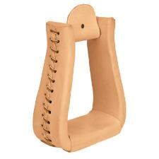 Weaver® Natural Leather Roper Western Stirrups - TB