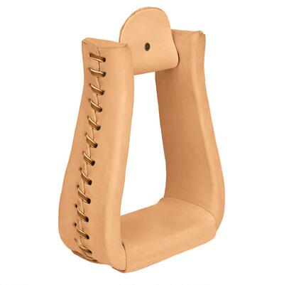 Weaver® Natural Leather Roper Western Stirrups