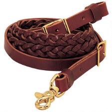 Latigo Leather 3 Plait Roper Rein - TB