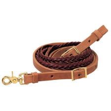 Weaver Harness and Latigo Leather 5 Plait Roper Rein - TB
