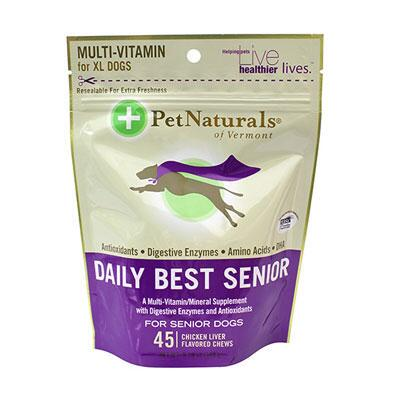 Pet Naturals® Daily Best Senior Dog Multivitamin 45 Ct Chews