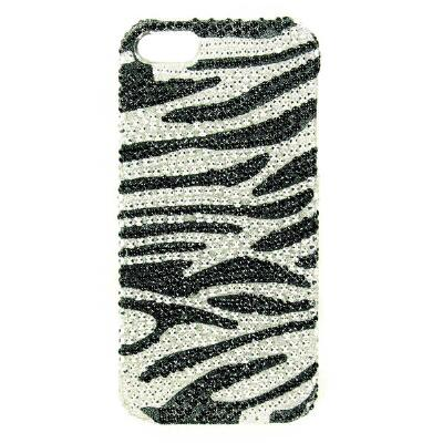 Blazin Roxx iPhone 5 Cover Zebra Bling