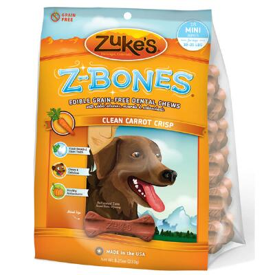 Zukes Z Bones Grain Free Dental Chew Carrot