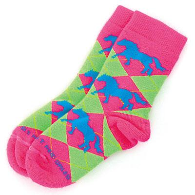 Argyle Horse Youth Sock