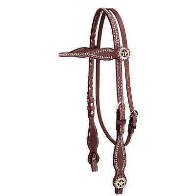 Texas Star Browband Headstall