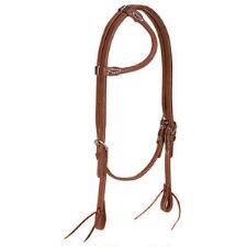 ProTack Oiled Rolled Sliding Ear Headstall