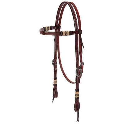 Basketweave Rawhide Accent Browband Headstall