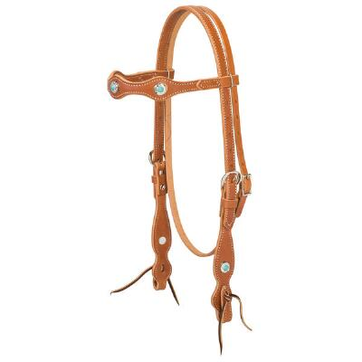 Weaver Snap Tack Scalloped Browband Headstall