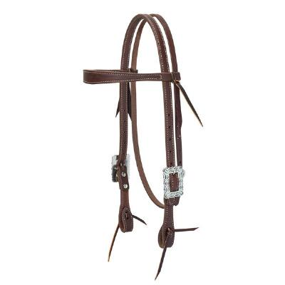 Weaver Working Cowboy Scalloped Browband Headstall