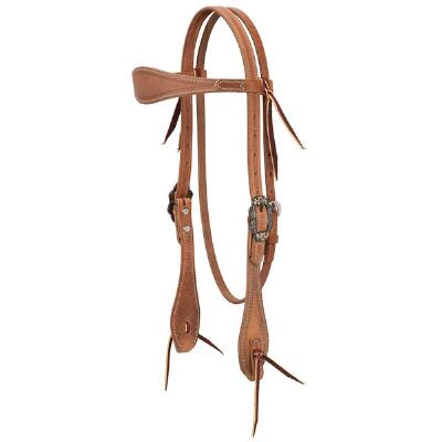 Weaver Rough Out Browband Headstall