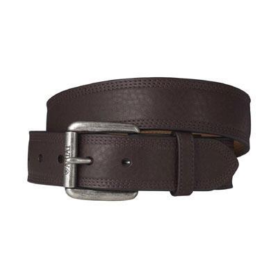 Mens Dark Copper Triple Stitch Belt