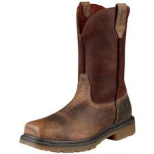 Rambler Mens Pull On Steel Toe Western Work Boot - TB