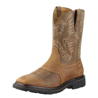 Ariat Sierra Aged Bark Square Toe Mens Western Boot