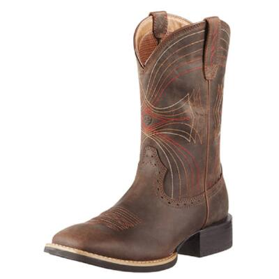 Sport Mens Roper Square Toe Distressed Brown