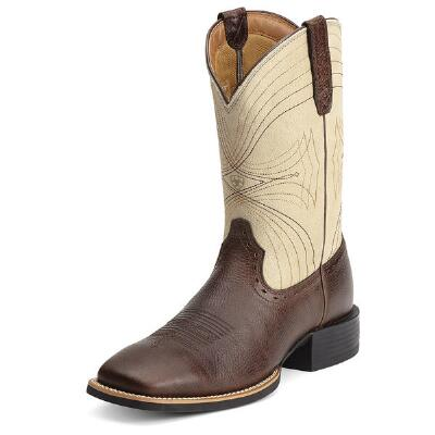 Ariat Sport Square Toe Mens Western Boot Brown Bone
