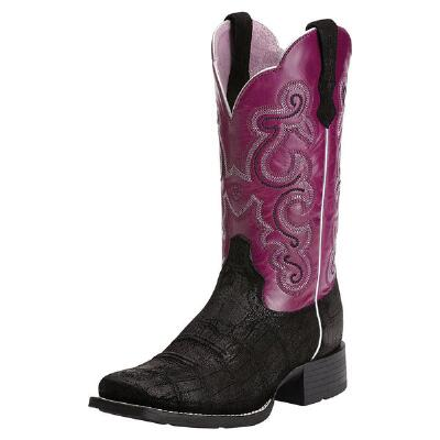 Ariat Quickdraw Ladies Western Boot Buffed Gator