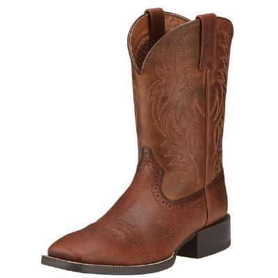 Sport Western Wide Square Toe Mens Western Boot