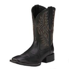 Ariat Sport Square Toe Mens Western Boot Black - TB