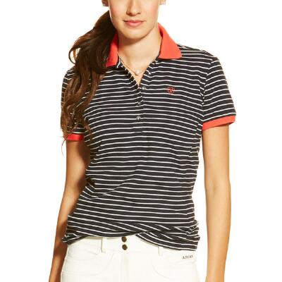 Prix Stripe Short Sleeve Ladies Polo Shirt