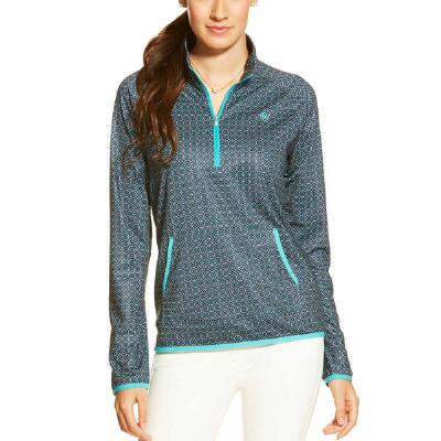 Ballad Geometric Half Zip Ladies Pull Over