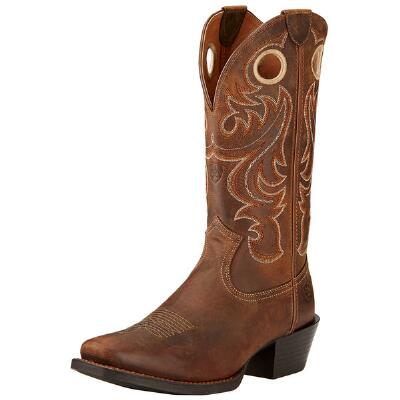 Sport Powder Brown Square Toe Mens Western Boot