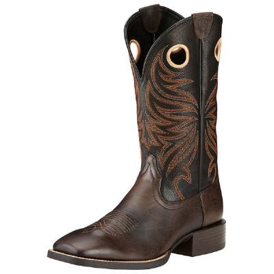 Sport Rider Chocolate Square Toe Mens Western Boot