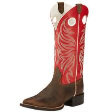 Round UP Ryder Distressed Brown Ladies Western Boot