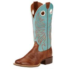 Ariat Round Up Ryder Wood Sky Ladies Western Boot - TB