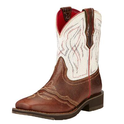 Ranchbaby II Pecan Ladies Western Boot
