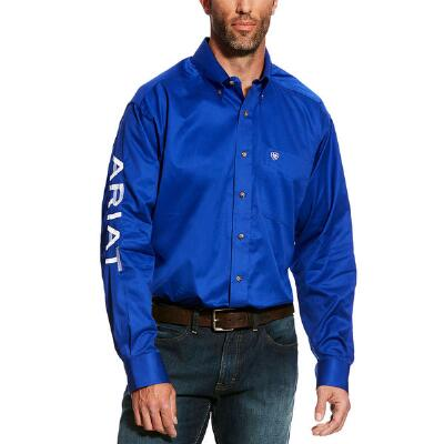 Ariat TEAM Logo Solid Twill Mens Western Shirt