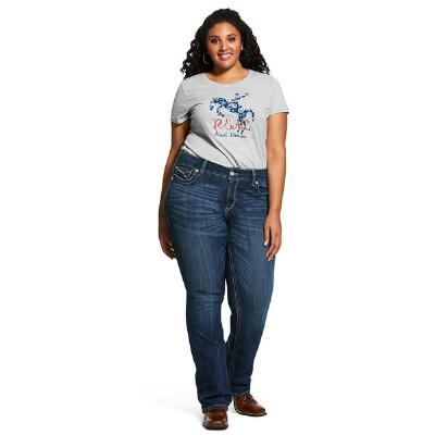 Ariat REAL Entwined Boot Cut Plus Size Womens Riding Jean