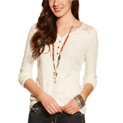 Ariat Fate Henley Long Sleeve Ladies Tee
