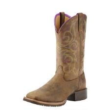 Hybrid Rancher Distressed Brown Ladies Western Boot - TB