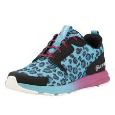 Fuse Blue Leopard Ladies Athletic Shoe