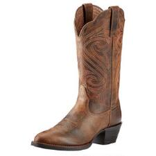 Round Up R Toe Ladies Western Boot