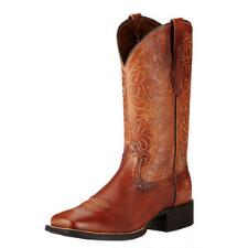 Ariat Round Up Remuda Naturally Rich Ladies Western Boot - TB