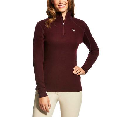 Ariat Cadence Wool Malbec Ladies Quarter Zip