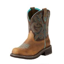 Ariat Fatbaby Heritage Distressed Brown Ladies Western Boot - TB