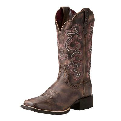 Ariat Quickdraw Tack Room Chocolate Ladies Western Boot