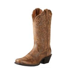 Ariat Round Up Vintage Bomber Ladies Western Boot - TB