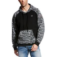 Ariat Patriot Black Digi Camo Mens Hoodie - TB