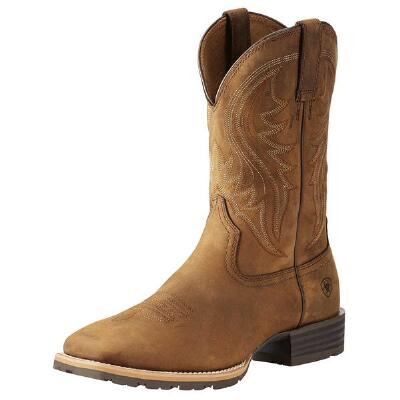 Ariat Hybrid Rancher Distressed Brown Mens Western Boot