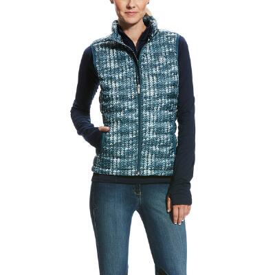 Ariat Ideal Down Sweater Print Ladies Vest