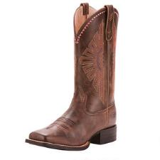 Ariat Round Up Rio Naturally Distressed Ladies Western Boot - TB