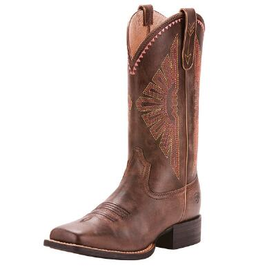 Ariat Round Up Rio Naturally Distressed Ladies Western Boot