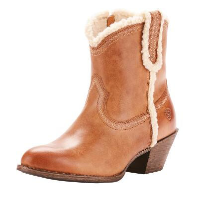 Ariat Darlin Fleece Sandstorm Ladies Western Ankle Boot