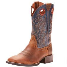 Ariat Sport Sidebet Distressed Brown Mens Western Boot - TB