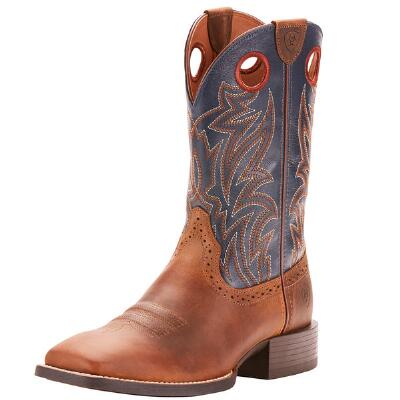 Ariat Sport Sidebet Distressed Brown Mens Western Boot