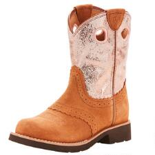 Ariat Fatbaby Cowgirl Dark Peanut Youth Western Boot - TB